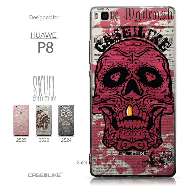 Collection - CASEiLIKE Huawei P8 back cover Art of Skull 2523