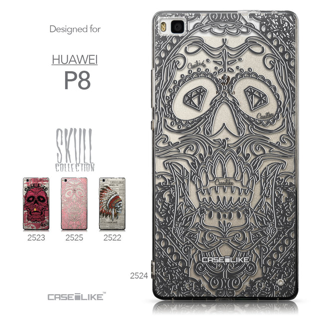Collection - CASEiLIKE Huawei P8 back cover Art of Skull 2524