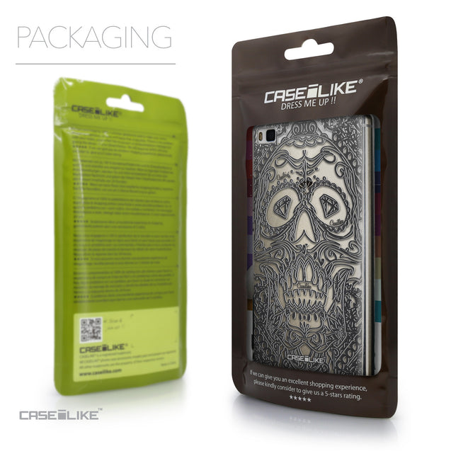 Packaging - CASEiLIKE Huawei P8 back cover Art of Skull 2524