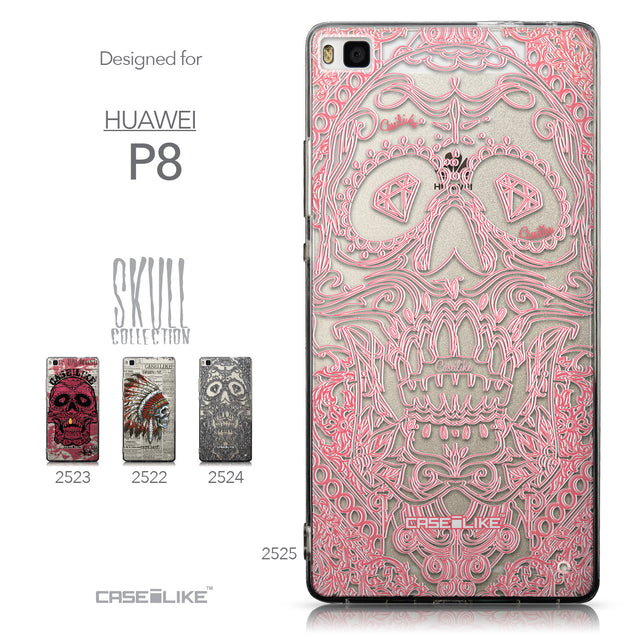 Collection - CASEiLIKE Huawei P8 back cover Art of Skull 2525