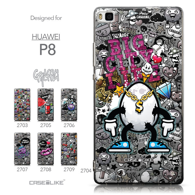 Collection - CASEiLIKE Huawei P8 back cover Graffiti 2704