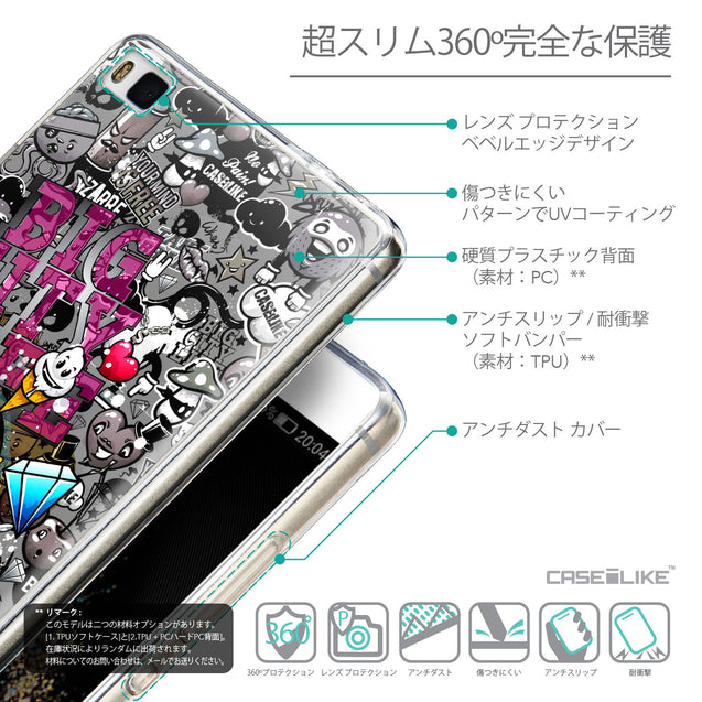 Details in Japanese - CASEiLIKE Huawei P8 back cover Graffiti 2704
