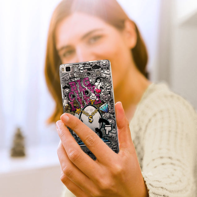 Share - CASEiLIKE Huawei P8 back cover Graffiti 2704