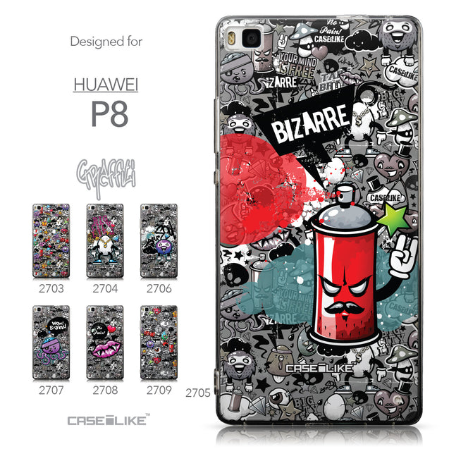 Collection - CASEiLIKE Huawei P8 back cover Graffiti 2705