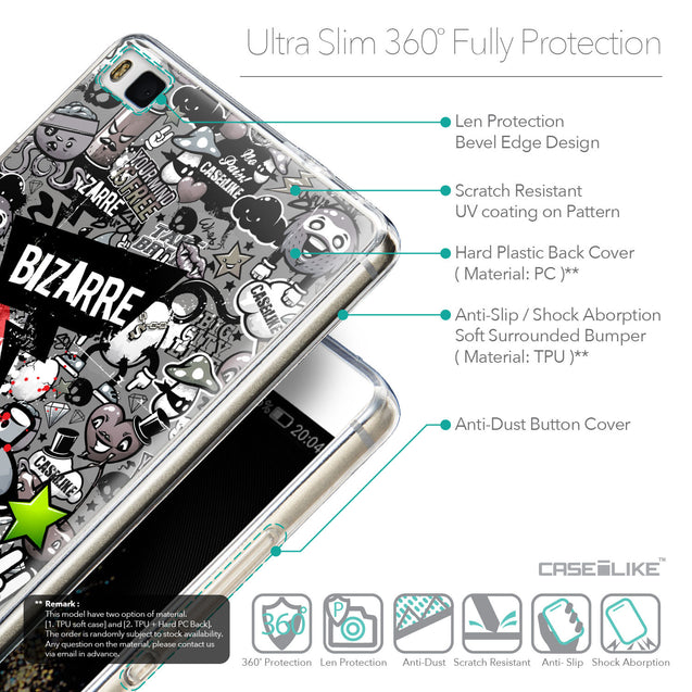 Details in English - CASEiLIKE Huawei P8 back cover Graffiti 2705