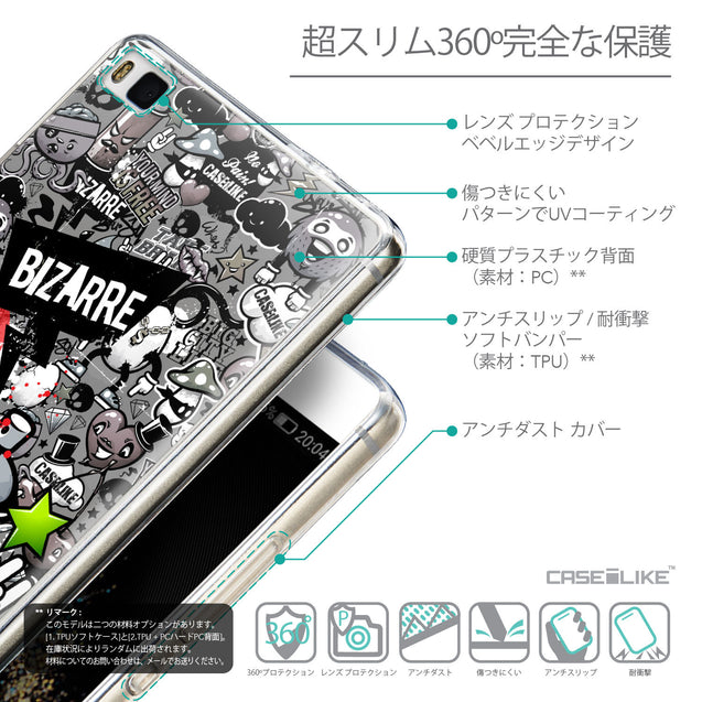Details in Japanese - CASEiLIKE Huawei P8 back cover Graffiti 2705