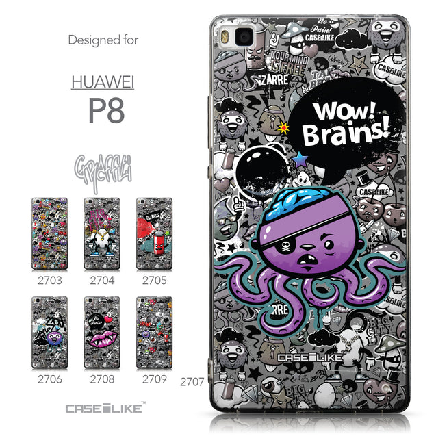 Collection - CASEiLIKE Huawei P8 back cover Graffiti 2707