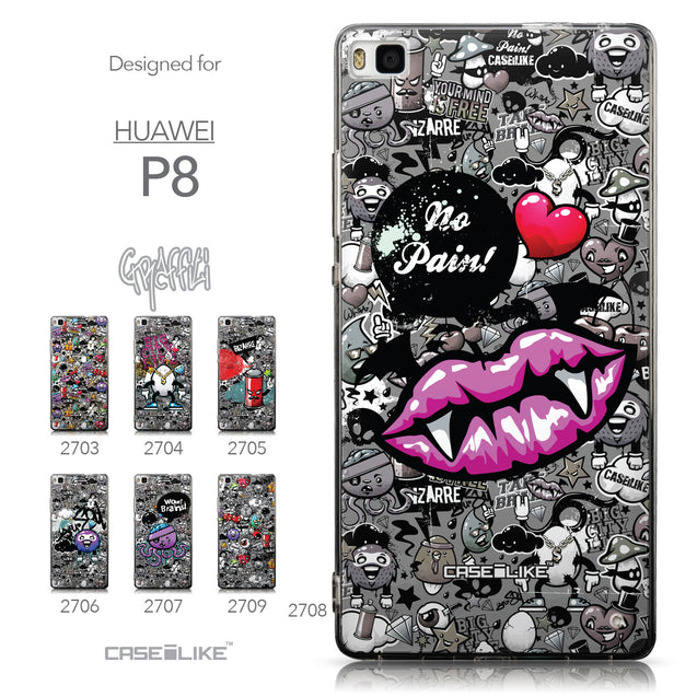 Collection - CASEiLIKE Huawei P8 back cover Graffiti 2708