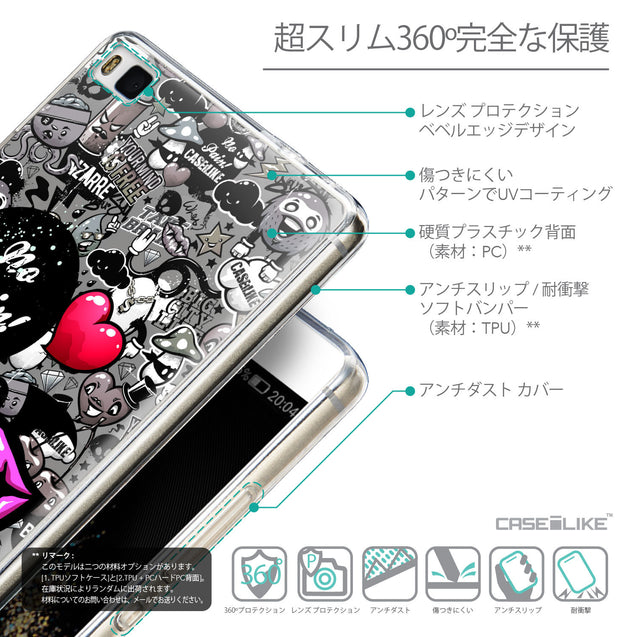 Details in Japanese - CASEiLIKE Huawei P8 back cover Graffiti 2708
