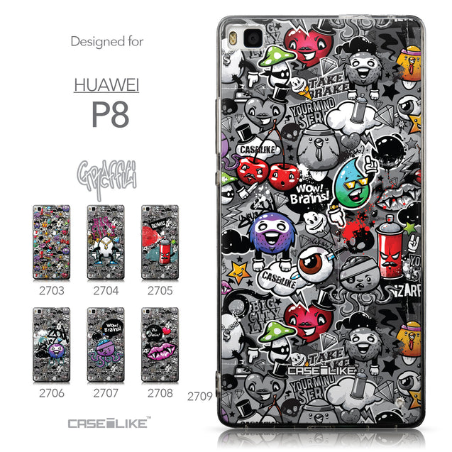 Collection - CASEiLIKE Huawei P8 back cover Graffiti 2709