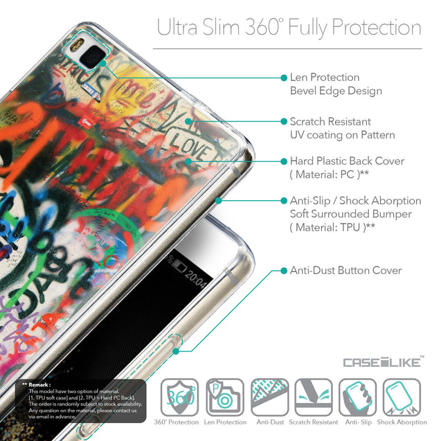 Details in English - CASEiLIKE Huawei P8 back cover Graffiti 2721