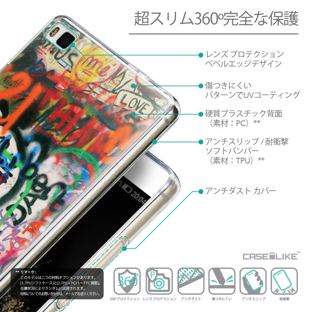 Details in Japanese - CASEiLIKE Huawei P8 back cover Graffiti 2721