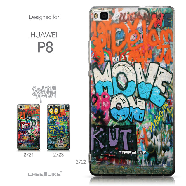 Collection - CASEiLIKE Huawei P8 back cover Graffiti 2722
