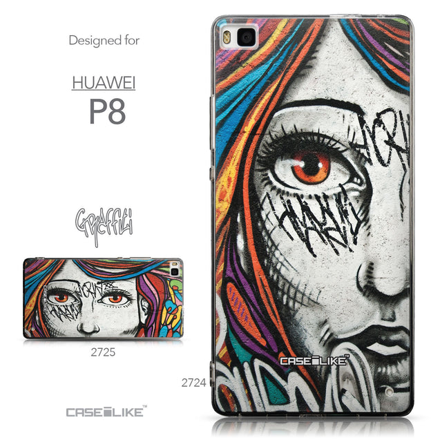 Collection - CASEiLIKE Huawei P8 back cover Graffiti Girl 2724