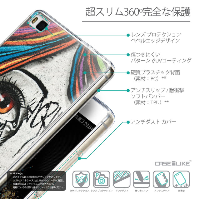 Details in Japanese - CASEiLIKE Huawei P8 back cover Graffiti Girl 2724