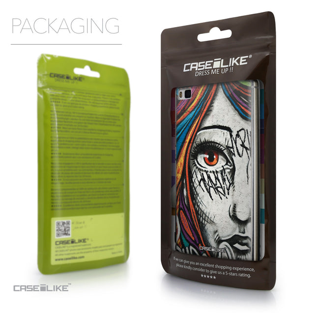 Packaging - CASEiLIKE Huawei P8 back cover Graffiti Girl 2724