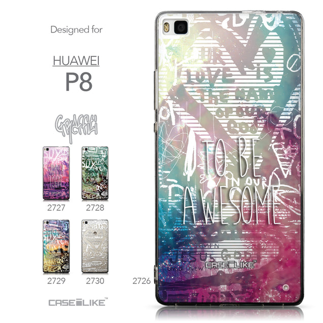 Collection - CASEiLIKE Huawei P8 back cover Graffiti 2726