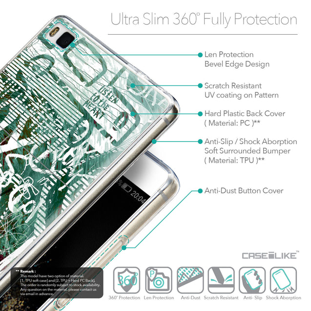 Details in English - CASEiLIKE Huawei P8 back cover Graffiti 2728
