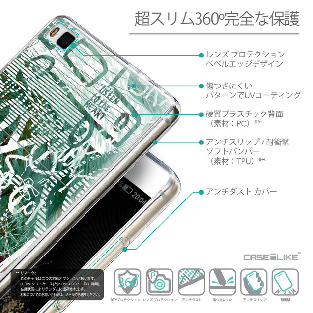 Details in Japanese - CASEiLIKE Huawei P8 back cover Graffiti 2728