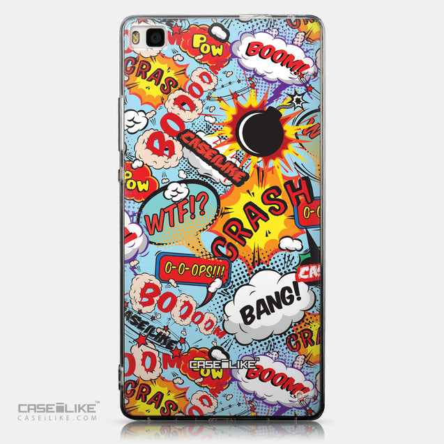 CASEiLIKE Huawei P8 back cover Comic Captions Blue 2913