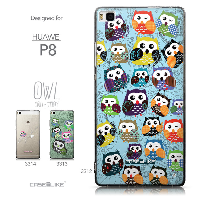 Collection - CASEiLIKE Huawei P8 back cover Owl Graphic Design 3312