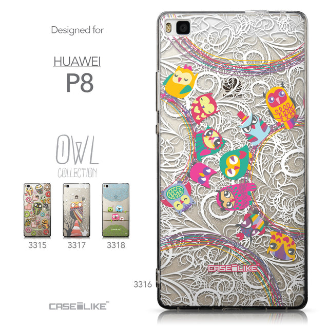 Collection - CASEiLIKE Huawei P8 back cover Owl Graphic Design 3316