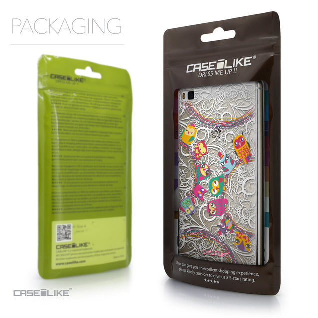 Packaging - CASEiLIKE Huawei P8 back cover Owl Graphic Design 3316