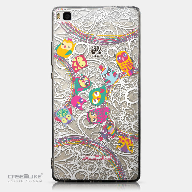 CASEiLIKE Huawei P8 back cover Owl Graphic Design 3316