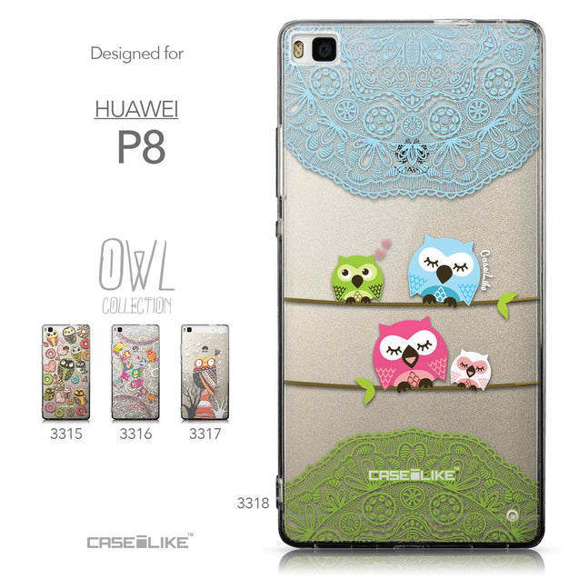 Collection - CASEiLIKE Huawei P8 back cover Owl Graphic Design 3318