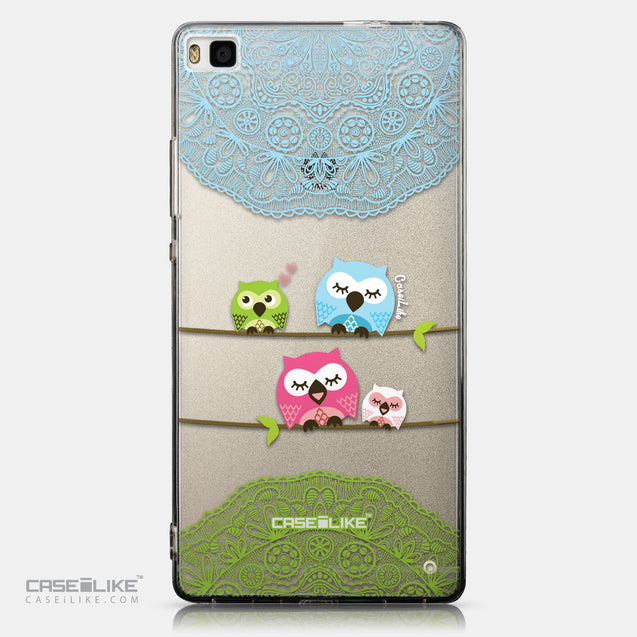 CASEiLIKE Huawei P8 back cover Owl Graphic Design 3318