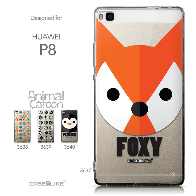 Collection - CASEiLIKE Huawei P8 back cover Animal Cartoon 3637