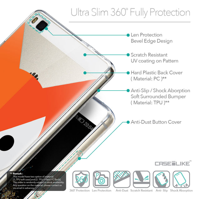 Details in English - CASEiLIKE Huawei P8 back cover Animal Cartoon 3637