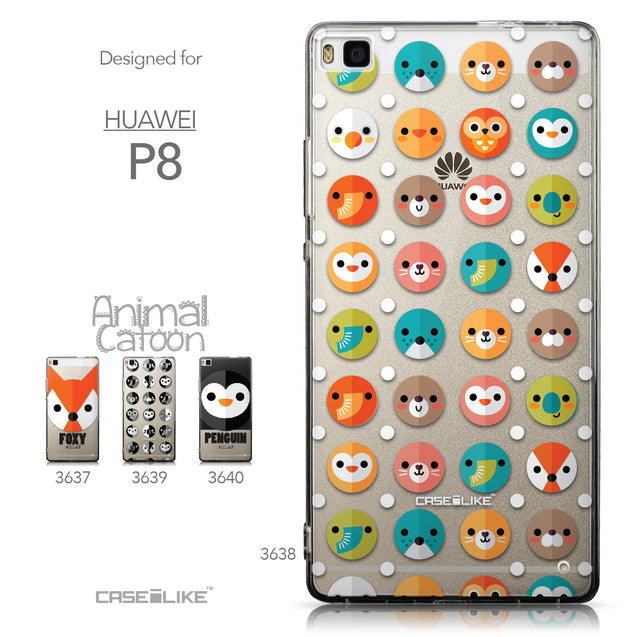 Collection - CASEiLIKE Huawei P8 back cover Animal Cartoon 3638