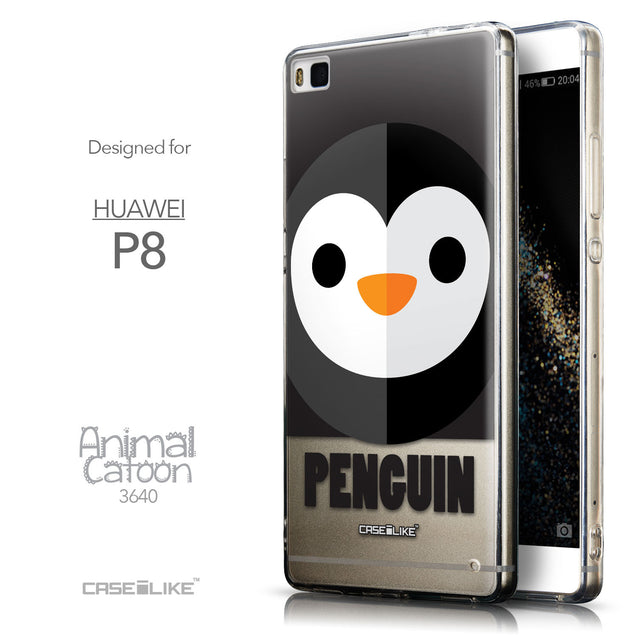 Front & Side View - CASEiLIKE Huawei P8 back cover Animal Cartoon 3640