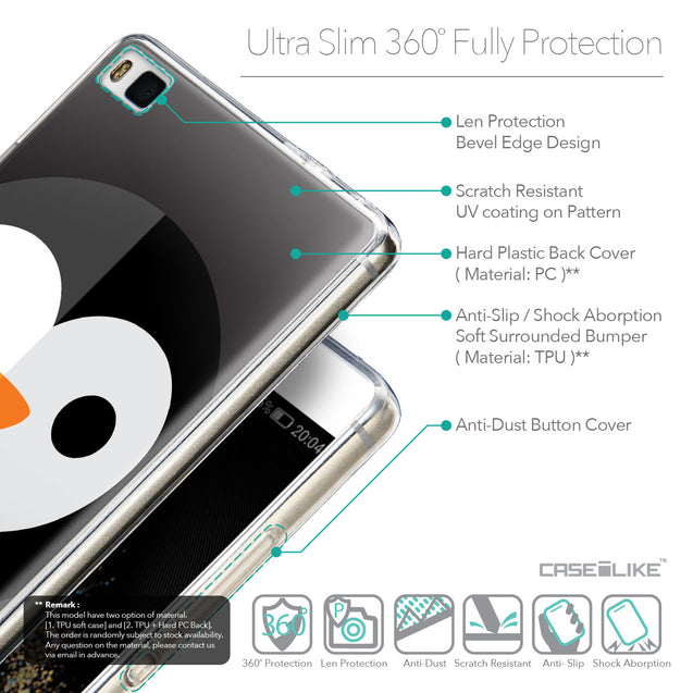 Details in English - CASEiLIKE Huawei P8 back cover Animal Cartoon 3640