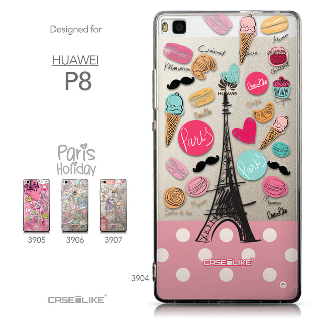 Collection - CASEiLIKE Huawei P8 back cover Paris Holiday 3904