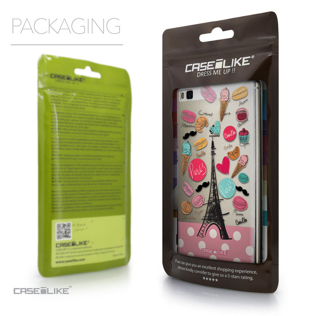 Packaging - CASEiLIKE Huawei P8 back cover Paris Holiday 3904