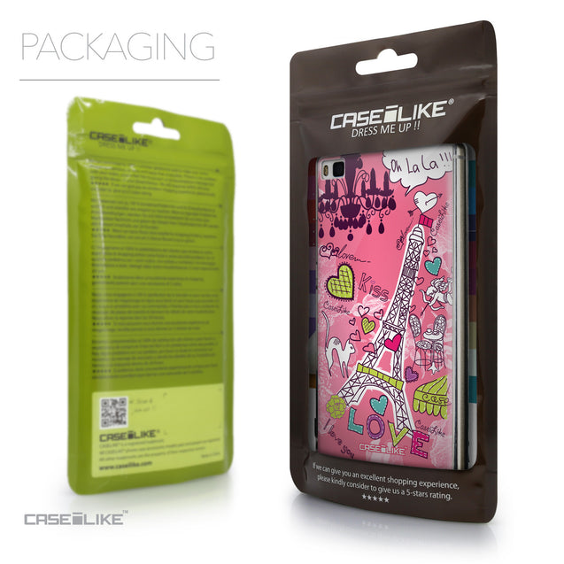 Packaging - CASEiLIKE Huawei P8 back cover Paris Holiday 3905