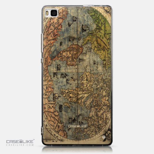 CASEiLIKE Huawei P8 back cover World Map Vintage 4608