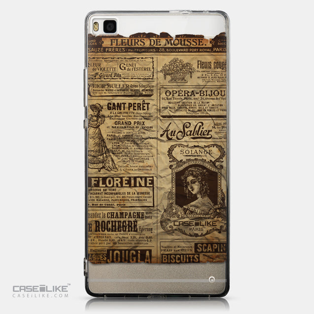 CASEiLIKE Huawei P8 back cover Vintage Newspaper Advertising 4819