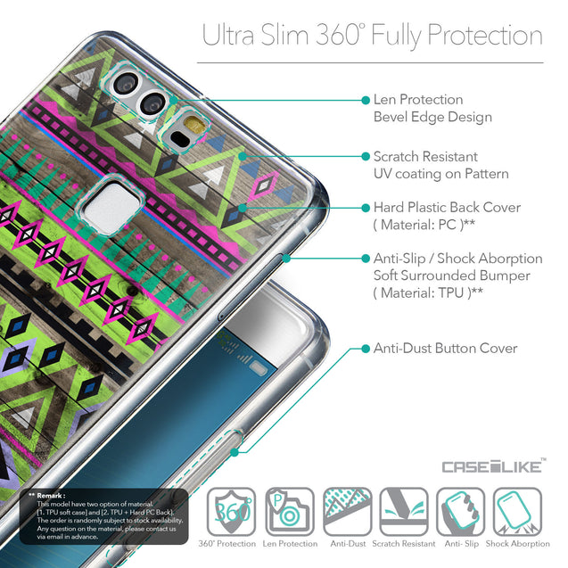 Details in English - CASEiLIKE Huawei P9 back cover Indian Tribal Theme Pattern 2049