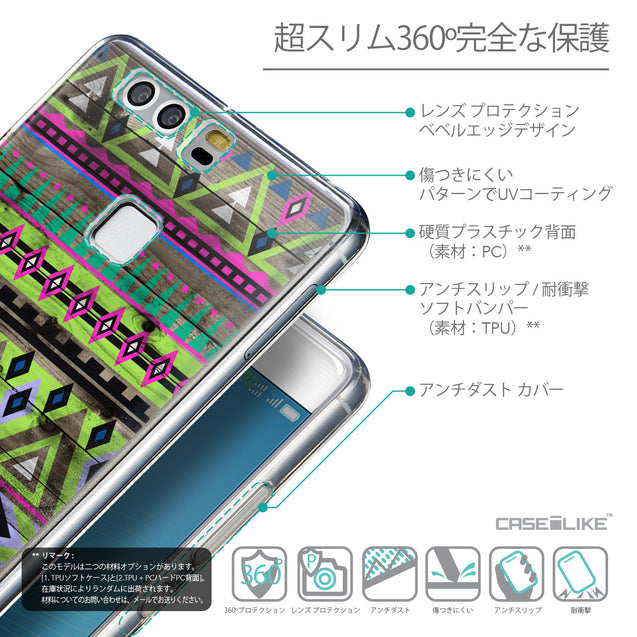 Details in Japanese - CASEiLIKE Huawei P9 back cover Indian Tribal Theme Pattern 2049