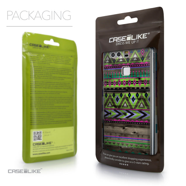 Packaging - CASEiLIKE Huawei P9 back cover Indian Tribal Theme Pattern 2049