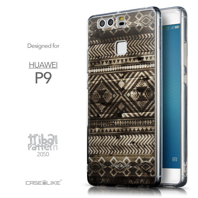 Front & Side View - CASEiLIKE Huawei P9 back cover Indian Tribal Theme Pattern 2050