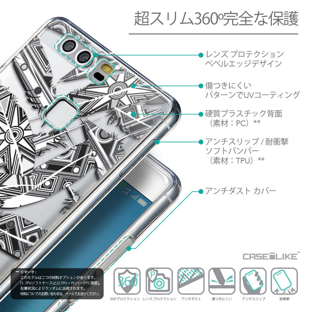 Details in Japanese - CASEiLIKE Huawei P9 back cover Indian Tribal Theme Pattern 2056