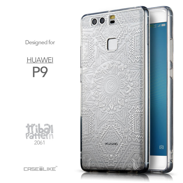 Front & Side View - CASEiLIKE Huawei P9 back cover Indian Line Art 2061