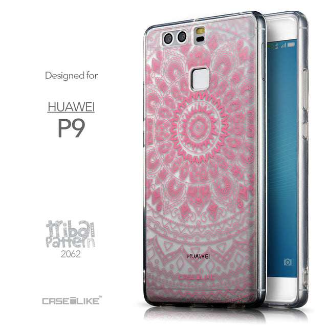 Front & Side View - CASEiLIKE Huawei P9 back cover Indian Line Art 2062