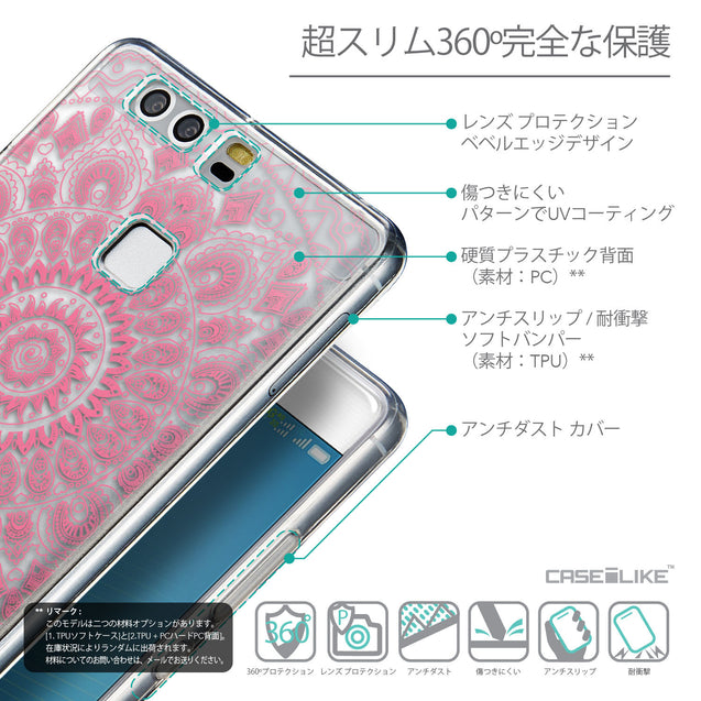 Details in Japanese - CASEiLIKE Huawei P9 back cover Indian Line Art 2062