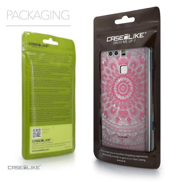Packaging - CASEiLIKE Huawei P9 back cover Indian Line Art 2062