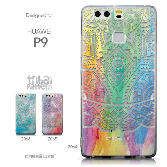 Collection - CASEiLIKE Huawei P9 back cover Indian Line Art 2064